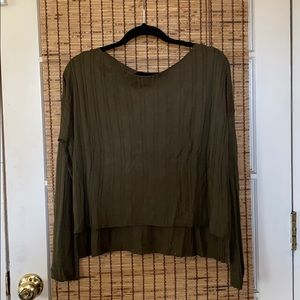 NEW Olive Ribbed Long Sleeve